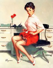sexy secretary pinup girl 1960s
