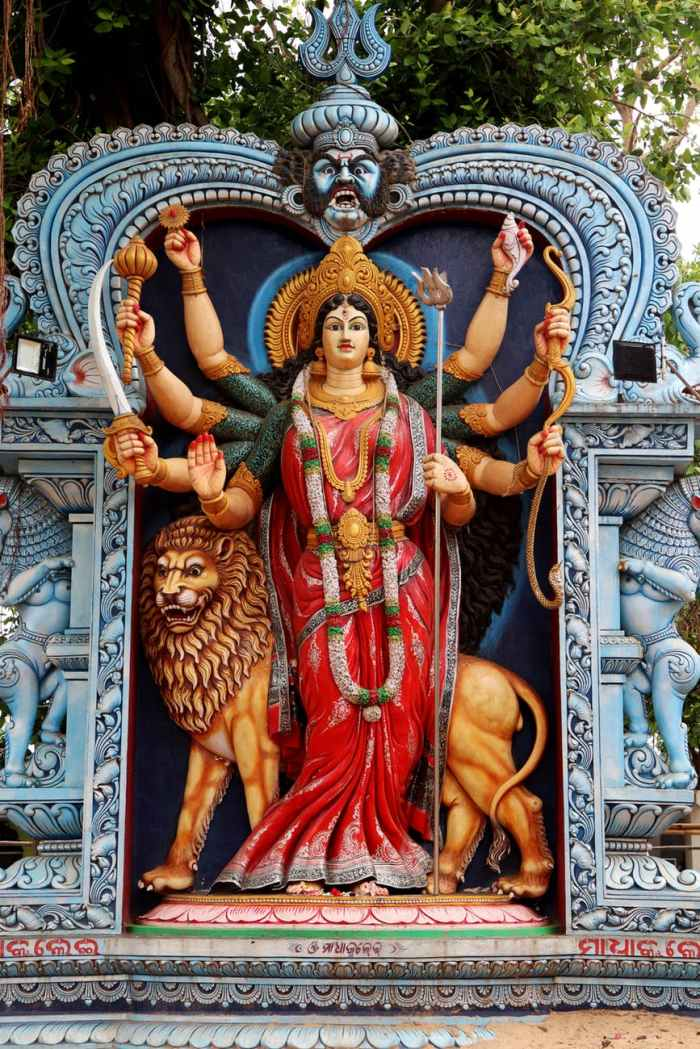 photo of durga statue